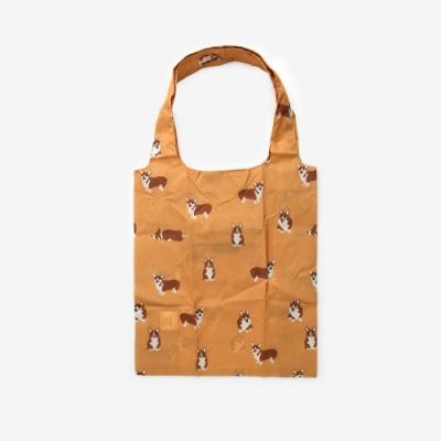 Dailylike 摺疊購物袋單肩包L-17柯基犬