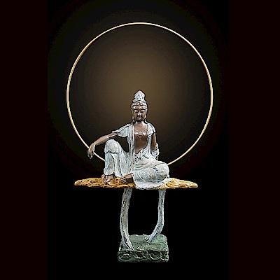 水月觀音 觀音(觀世音菩薩) *普佛小品系列~子問老師 限量原作 銅雕