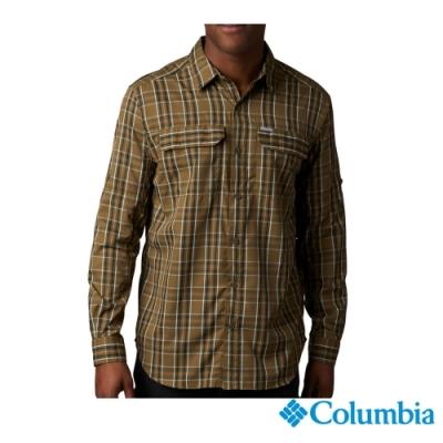 Columbia 哥倫比亞 男款 - Omni-Shade 防曬50快排襯衫-褐綠  UAE06490CS