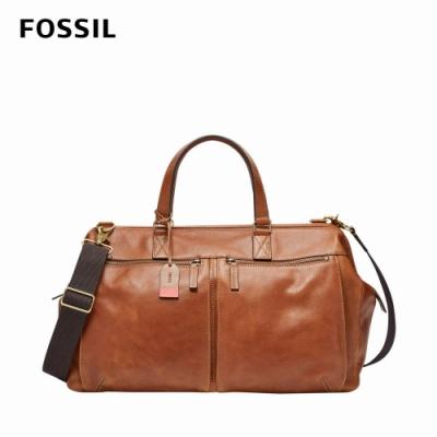 FOSSIL Defender 真皮周末旅行包-棕色 MBG9344222