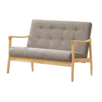 文創集 妮塔現代風棉麻布實木二人座沙發椅-116x73x77.5cm免組