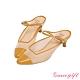 Grace gift X Kerina-聯名後空繫帶中跟穆勒鞋 黃 product thumbnail 1