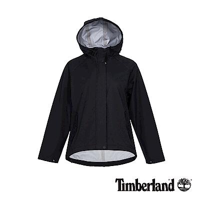 Timberland 女款黑色連帽防水短版派克外套|B3807