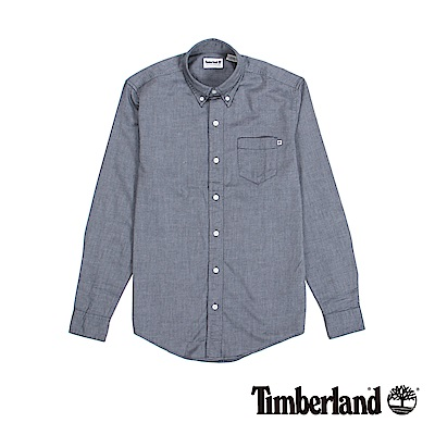 Timberland 男款紗染灰色修身版襯衫