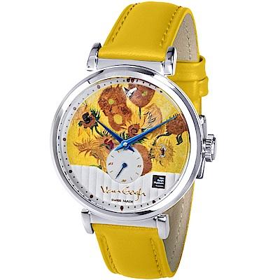 梵谷Van Gogh Swiss Watch小秒盤梵谷經典名畫女錶(C-SLLV-14)