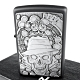 ZIPPO 美系~Gambling Skull-骷髏賭徒圖案立體貼飾加工打火機 product thumbnail 1
