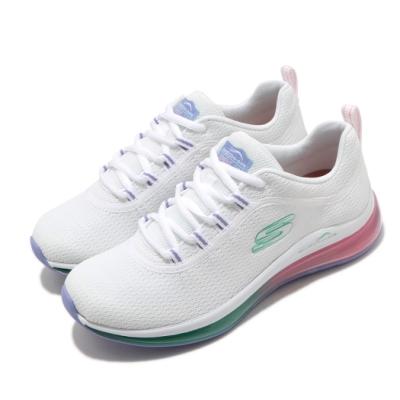 Skechers 休閒鞋 Skech-Air Element 2 女鞋 漸層氣墊 避震 緩衝 支撐 耐磨 白 彩 149402WMLT