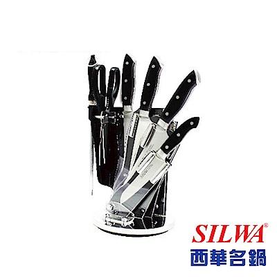 西華SILWA工匠級精鍛七件式刀具組(含精美壓克力360°旋轉刀座)