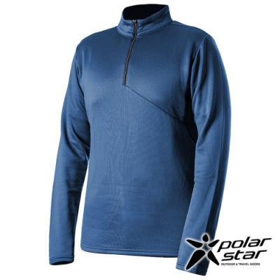 PolarStar 中性 高領拉鍊保暖衣『灰藍』P19215