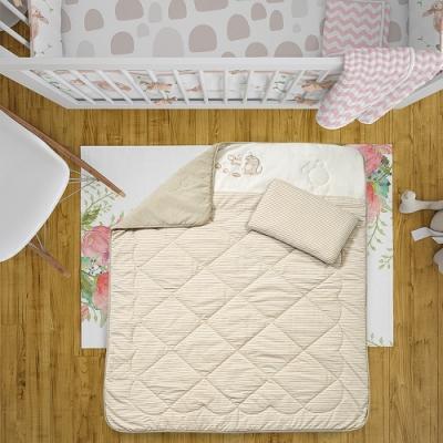 【Mini Pixie有機棉】 嬰兒床組(四季被+枕頭) (共2色可選)