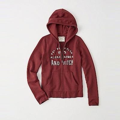 麋鹿 AF 限定款經典刺繡標誌連帽外套(女)-紅色