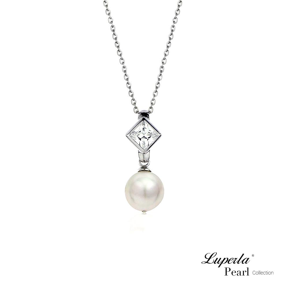 大東山珠寶 Akoya單珠 溫柔芳心 日本海水珍珠項鍊 925銀 8.5-9mm