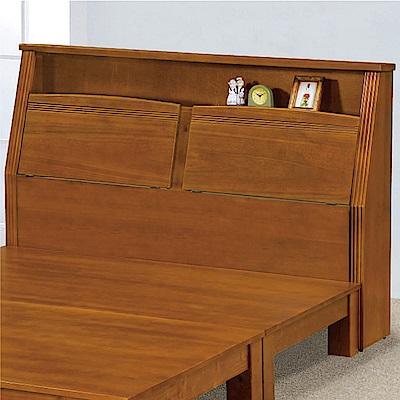 綠活居 湯利時尚5尺實木雙人床頭箱(不含床底)-156x32x110cm免組