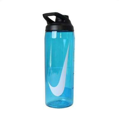 Nike 水壺 Hyper Charge Twist Cap 大口徑水壺 防漏水瓶蓋 運動 籃球 單車 藍 白 N100062243024