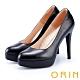 ORIN 時尚魅力 簡約剪裁素面真皮高跟鞋-黑色 product thumbnail 1