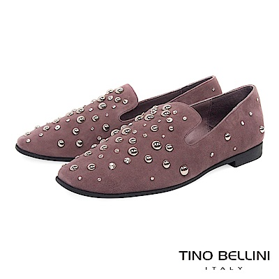 Tino Bellini 搶眼焦點全真皮樂福鞋 _ 藕紫