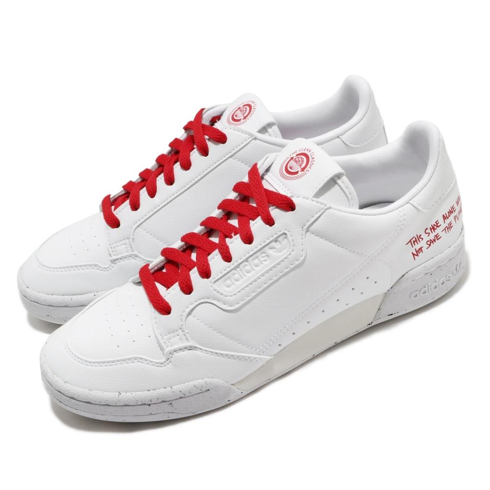 adidas 休閒鞋 Continental 80 復古 男鞋 愛迪達 三葉草 皮革鞋面 穿搭 白 紅 FU9787