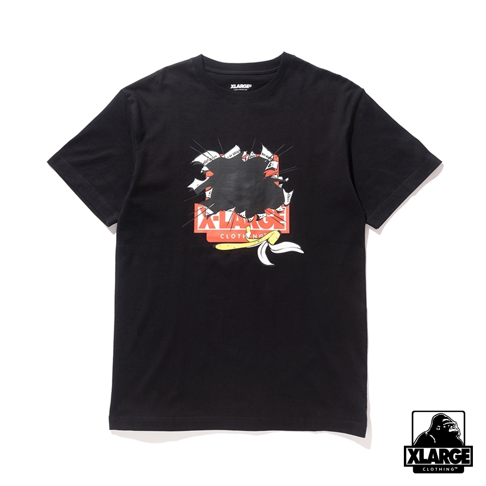 XLARGE S/S TEE BREAK OUT短袖T恤-黑