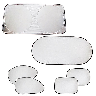 EZlife汽車塗銀隔熱遮陽擋6件組贈手機磁吸支架