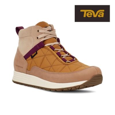 【TEVA】原廠貨 女 Ember Commute WP 高筒防水戶外休閒鞋/登山鞋(奶茶金屬色-TV1111779SMDL)