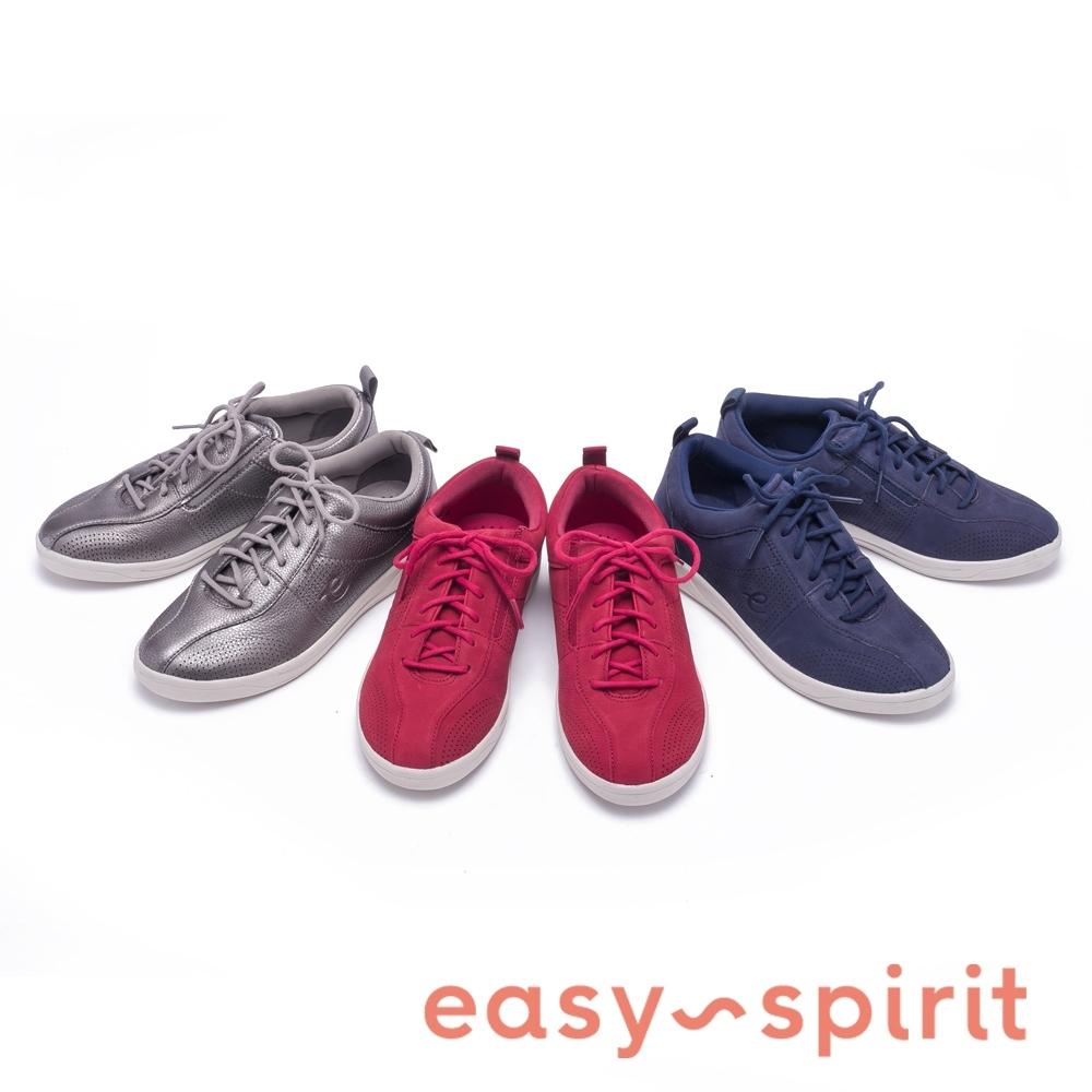 [時時樂限定] Easy Spirit FRENEY8 輕時尚絨面綁帶休閒鞋(3色任選)