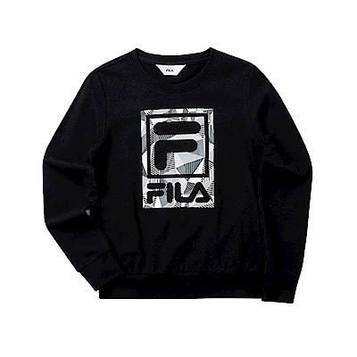FILA 女長袖圓領T恤-黑色 5TET-5511-BK