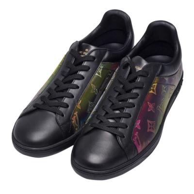 LV 1A5HC3經典SOULIERS Monogram花紋牛皮運動休閒鞋(黑)