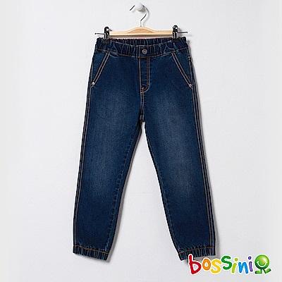 bossini男童-束口牛仔褲03靛藍
