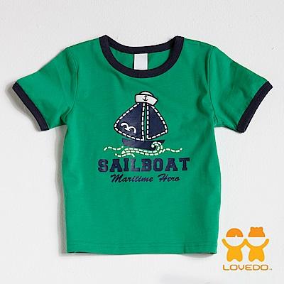 【LOVEDO-艾唯多童裝】航向大海 短袖T恤 (綠)