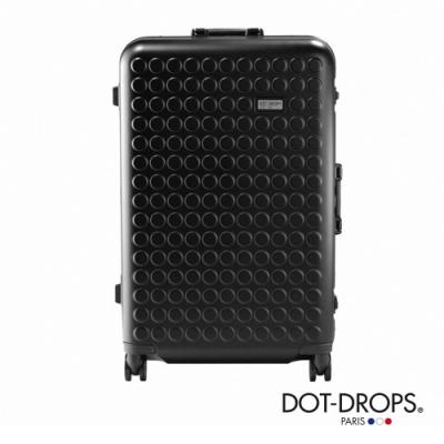 DOT-DROPS 28 吋 Chapter 4 時尚點點鋁框硬殼行李箱 - 幻影黑