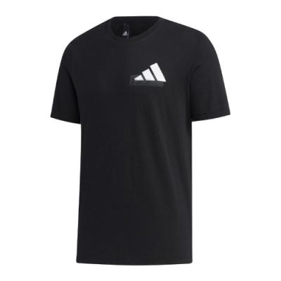 adidas T恤 MH Graphic BOS Tee 男款 愛迪達 圓領 基本款 短袖 穿搭 黑 白 GH4419