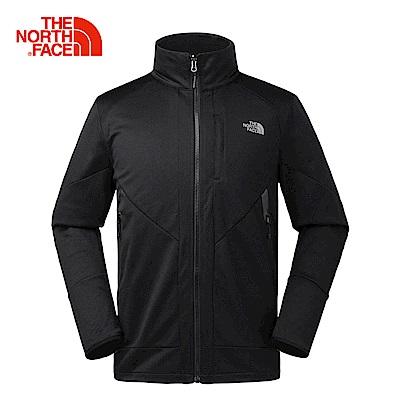 The North Face北面男款黑色舒適保暖抓絨外套 3L8UKX7
