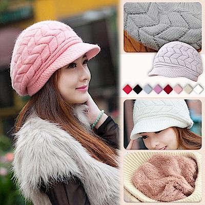 [EZlife]潮版帽沿貝蕾帽