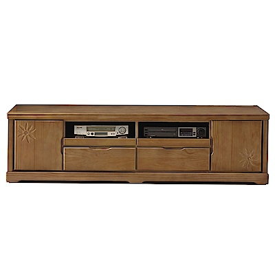 品家居 夏美特6.1尺實木長櫃/電視櫃-181.5x46x50cm免組