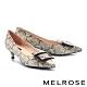低跟鞋 MELROSE 氣質高雅方釦尖頭低跟鞋-米 product thumbnail 1