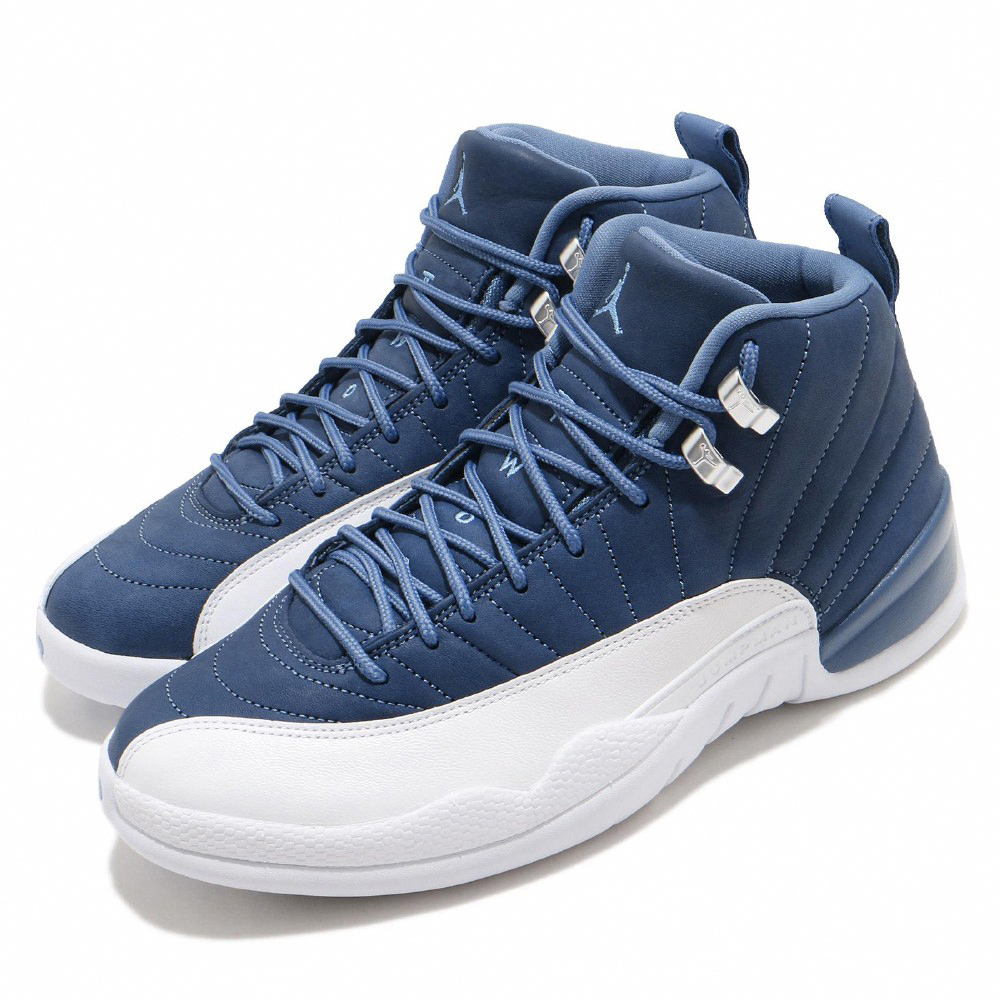 Nike 籃球鞋 Air Jordan 12代 男鞋 Indigo Blue 喬丹 AJ12 藍 白 130690404