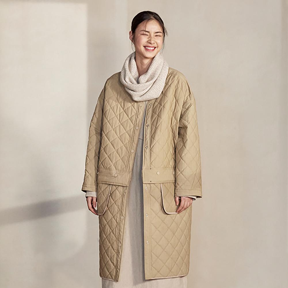 旅途原品_春棉_原創設計寬鬆可拆卸兩穿薄棉衣-駝色