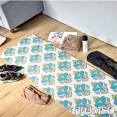 TROMSO 百花圖騰抗菌6mm多功能瑜珈墊-C皇家藍綠