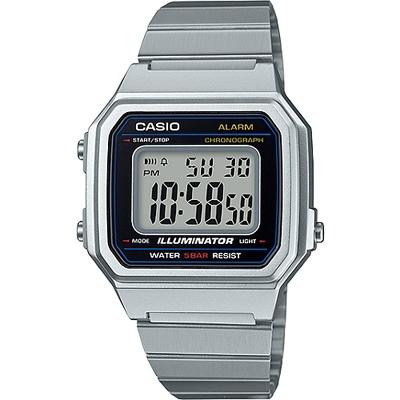 CASIO 復古文青風的大型數字數位錶-銀(B650WD-1A)/41mm