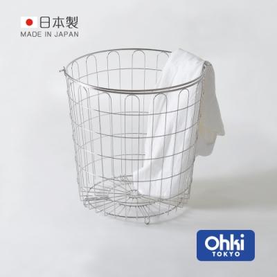 日本大木金屬 Outline 日製究極鏤線18-8不鏽鋼手提式洗衣籃-27L (收納桶/髒衣籃)