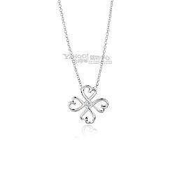 Tiffany&Co. 愛情幸運心鑲鑽石925純銀項鍊