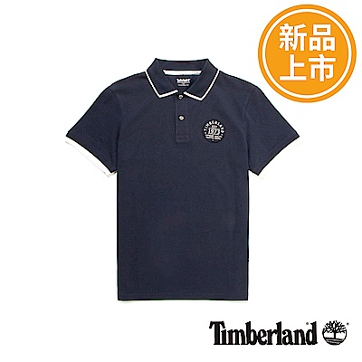 Timberland 男款深藍色純棉短袖polo衫