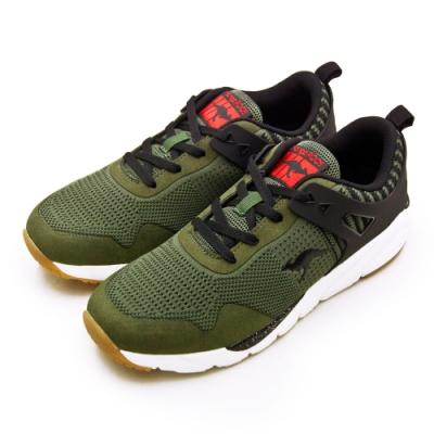 KangaROOS  輕量針織科技慢跑鞋 藍標袋鼠鞋 軍綠黑 91105