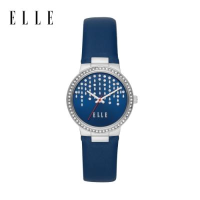 ELLE Bastille 流星閃耀藍色皮革手錶 32mm ELL23007
