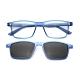 【 Z·ZOOM 】老花眼鏡 磁吸太陽眼鏡系列 知性矩形細框款(藍色) product thumbnail 1