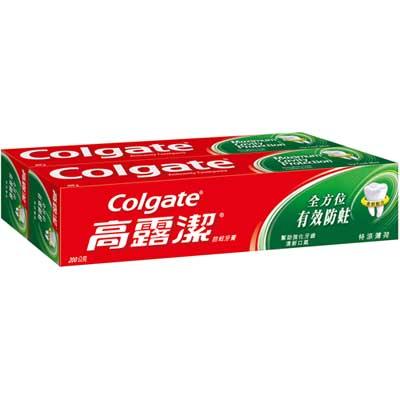 高露潔 全方位最有效防蛀牙膏 特涼薄荷 200gX2入