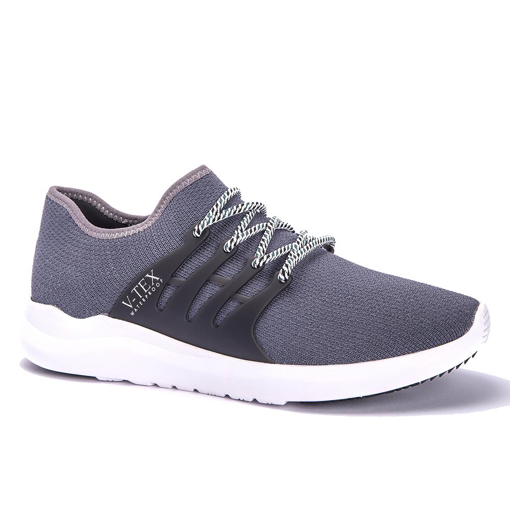 V-TEX 時尚針織耐水鞋/防水鞋 地表最強耐水透濕鞋-石岩灰(男)