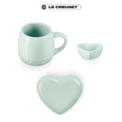 LE CREUSET 情人節限定花蕾系列杯盤套組(甜薄荷)