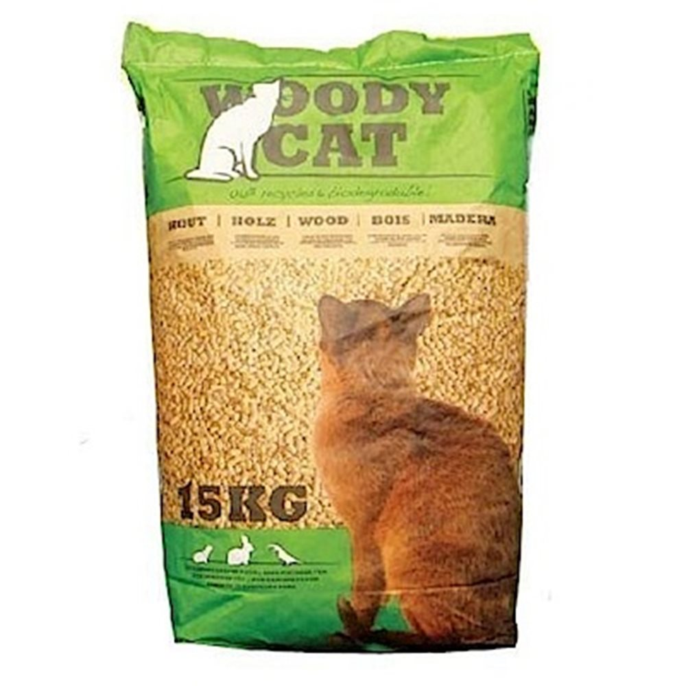荷蘭WOODY CAT 美克斯100%松木砂 15KG