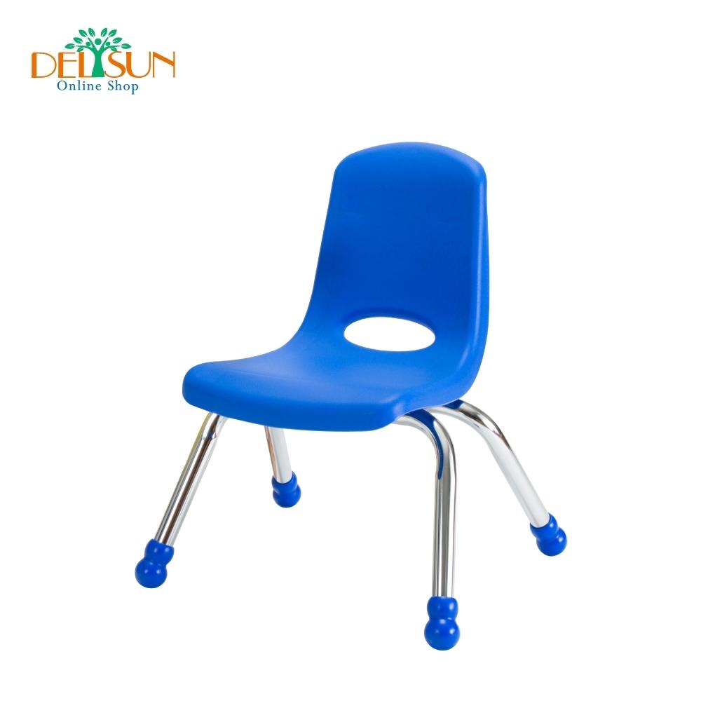 DELSUN 兒童鐵管椅 中性藍
